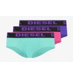 DIESEL nohavičky BIKINI - 3PACK 'UW PANTIES' zelená,fialová,ružová  10