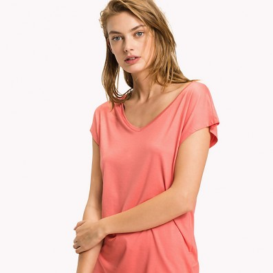 - dámske pyžamové tričko 'MODAL T-SHIRT' lososové  664