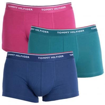 boxerky - 3PACK LOW RISE 'PREMIUM ESSENTIALS' modrá,zelená,červená  685