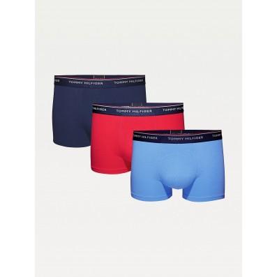 boxerky - 3PACK 'PREMIUM ESSENTIALS' modrá,tmavomodrá,červená  07I