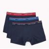 Tommy Hilfiger boxerky - 3PACK 'PREMIUM ESSENTIALS' modré s farebnými gumičkami  094
