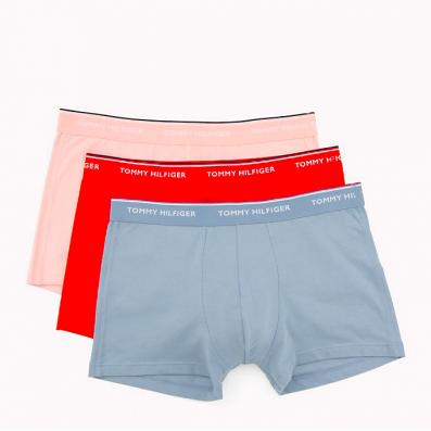 boxerky - 3PACK 'PREMIUM ESSENTIALS' ružová,červená,bledomodrá  097