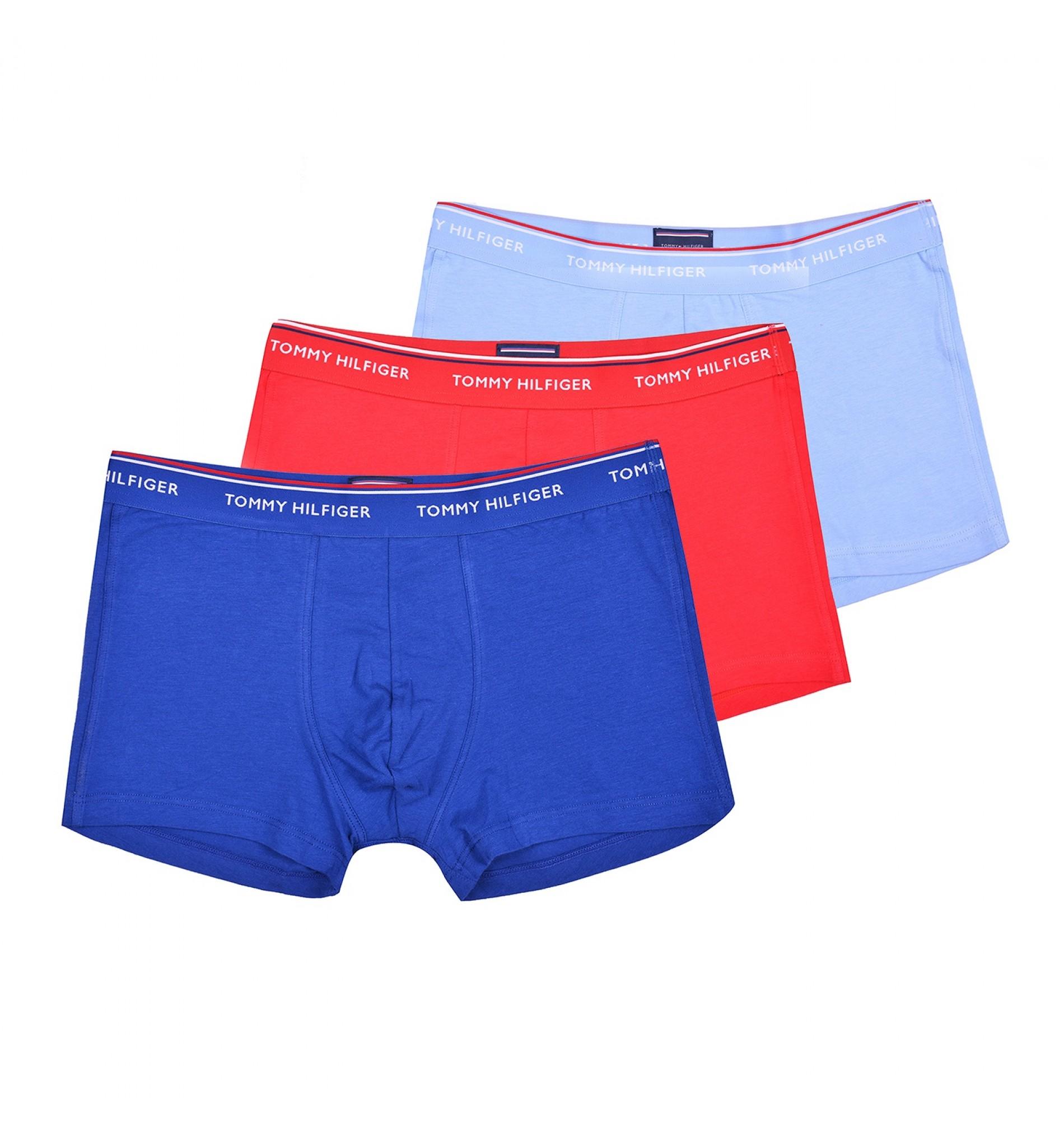 boxerky - 3PACK 'PREMIUM ESSENTIALS' bledomodrá,modrá,červená  903