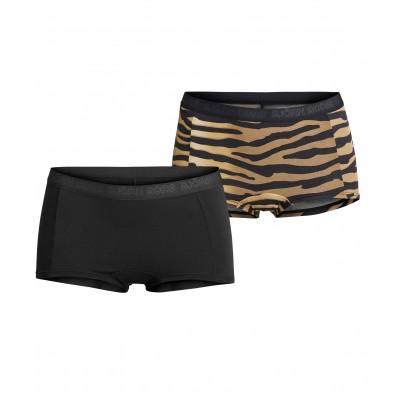 nohavičky boxerkové HIPSTER - 2PACK 'MIA' čierna,tigrovaná  90651