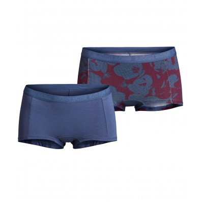 nohavičky boxerkové HIPSTER - 2PACK 'MIA' šedá,bordovošedá  70121