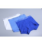Polo boxerky - 3PACK biela,bledomodrá,modrá  '714662050-004'