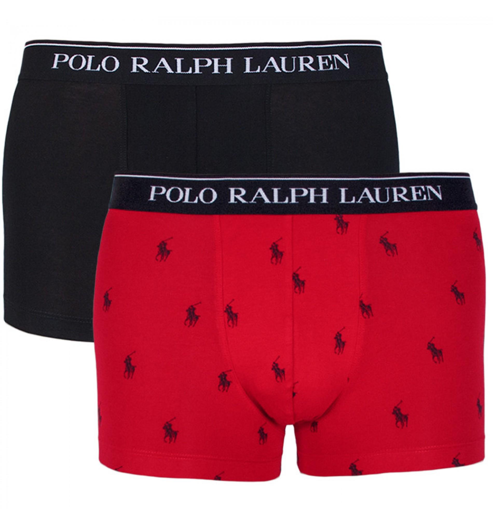 Polo boxerky - 2PACK čierna,červená  005  '714662052-005'