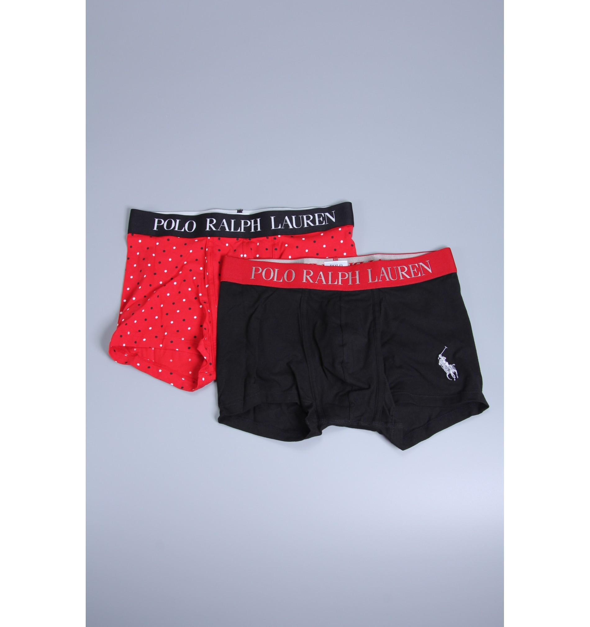 Polo boxerky - 2PACK čierna,červená  002  '714665558-002'