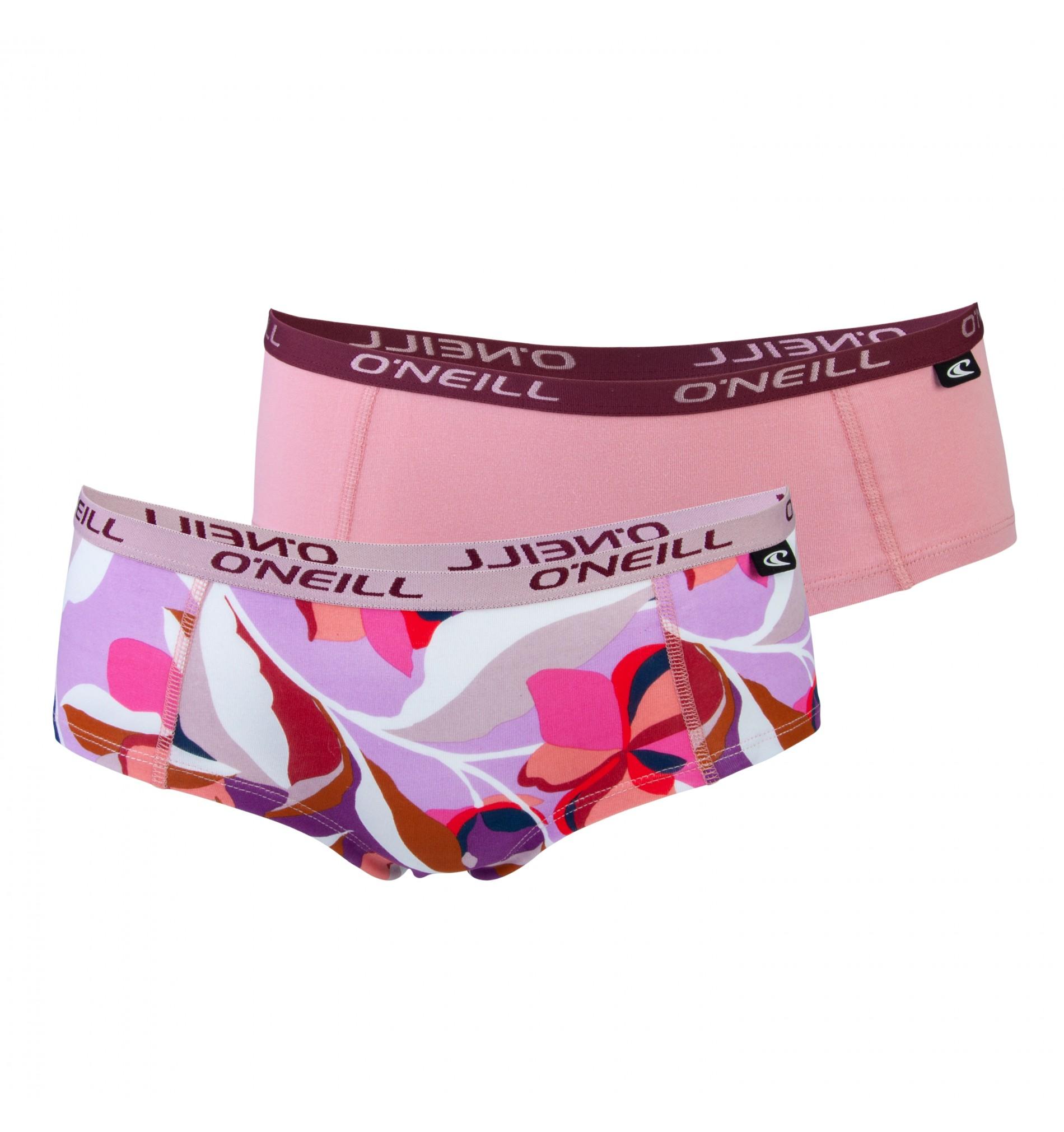 nohavičky boxerkové HIPSTER - 2PACK 'FLORAL' ružová,pestro farebná 5050