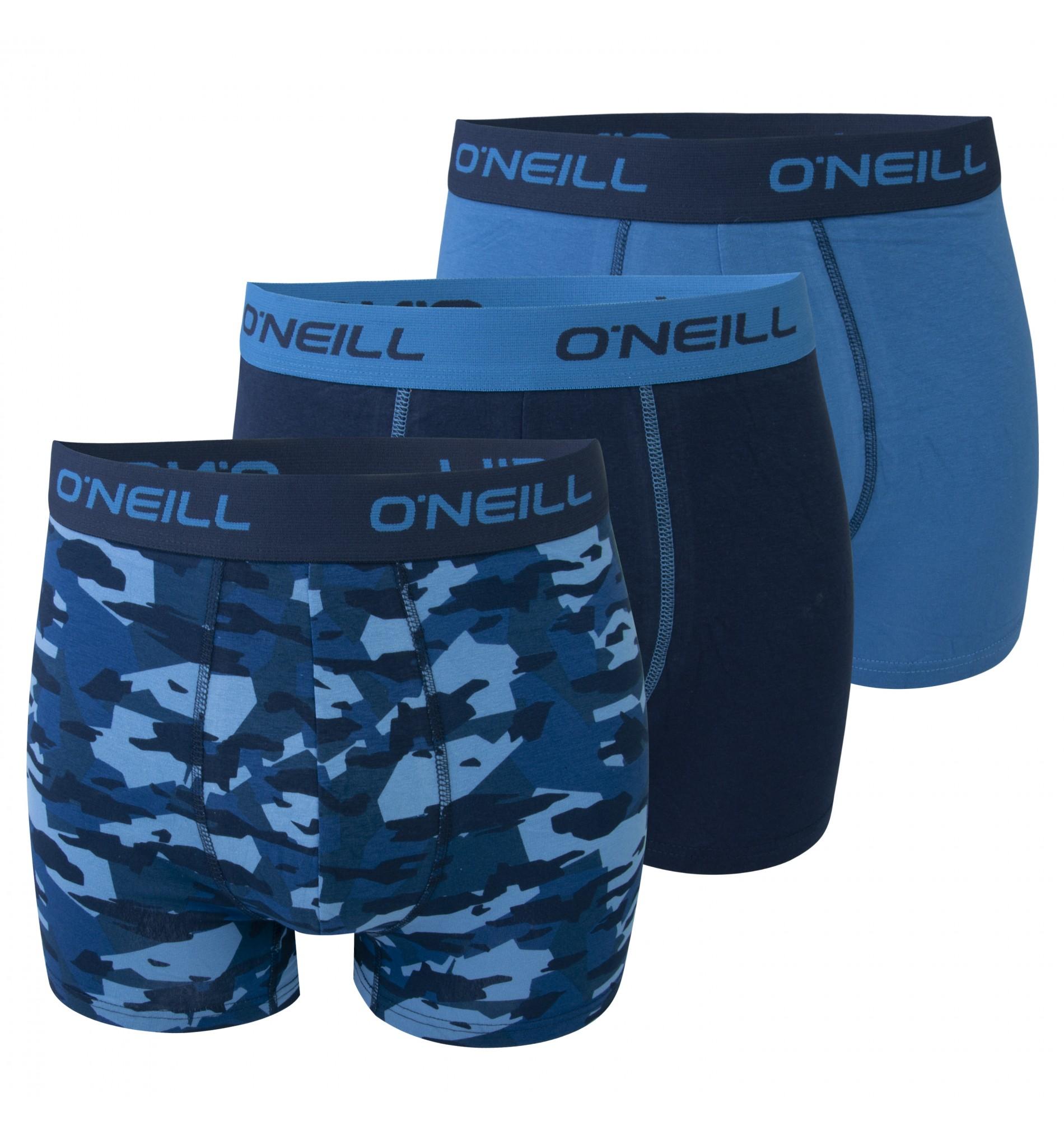 boxerky - 3PACK 'CAMOUFLAGE' svetlomodrá,tmavomodrá,maskáčová modrá  4744