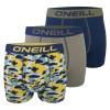 O'Neill boxerky - 3PACK 'CAMOUFLAGE' tmavomodrá,svetloolivová,maskáčová žltá  4923