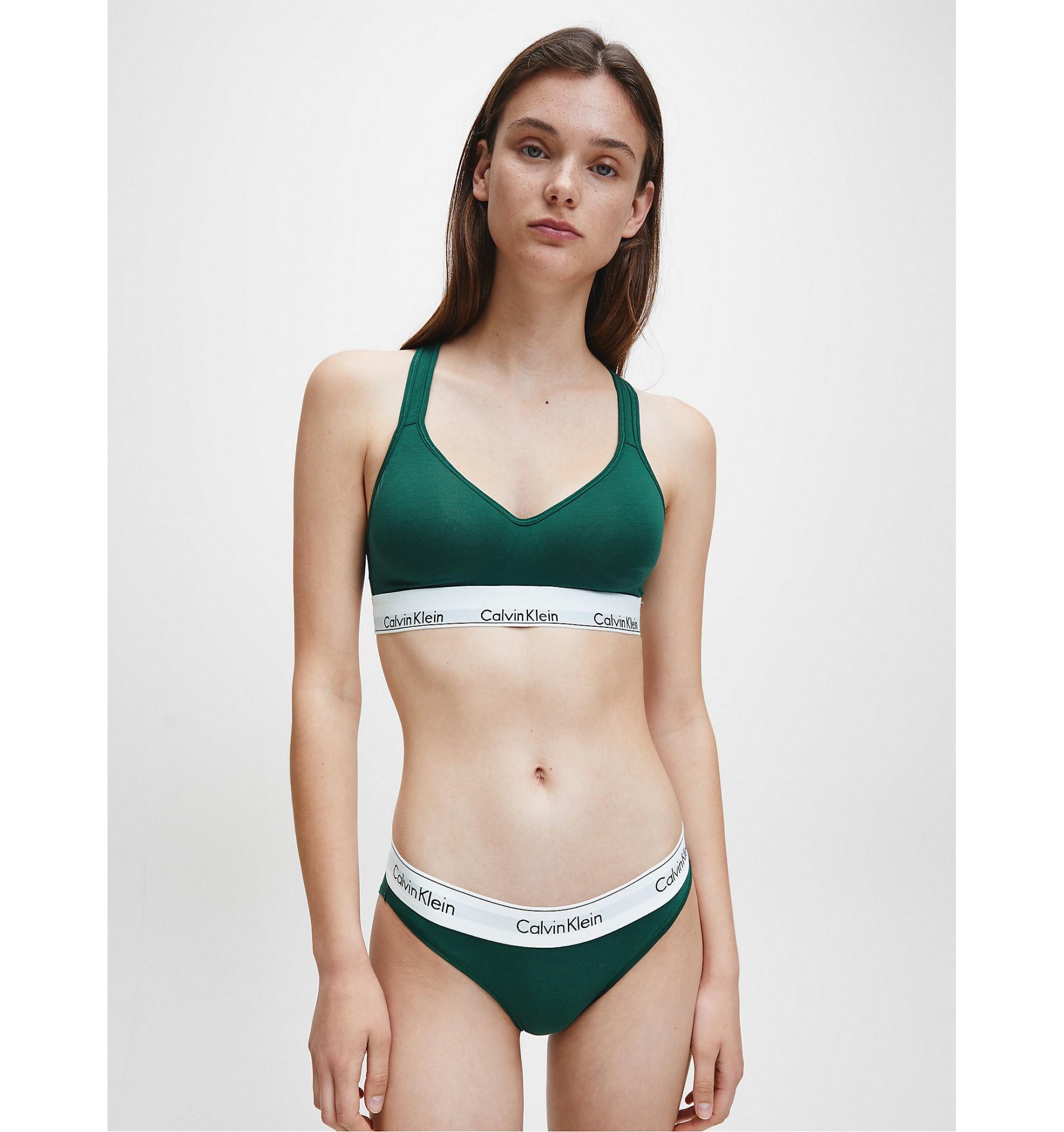 nohavičky - BIKINI 'MODERN COTTON' zelené  CP2