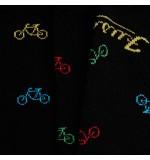 FUSAKLE UNISEX PONOŽKY 'Cyklista čierny'