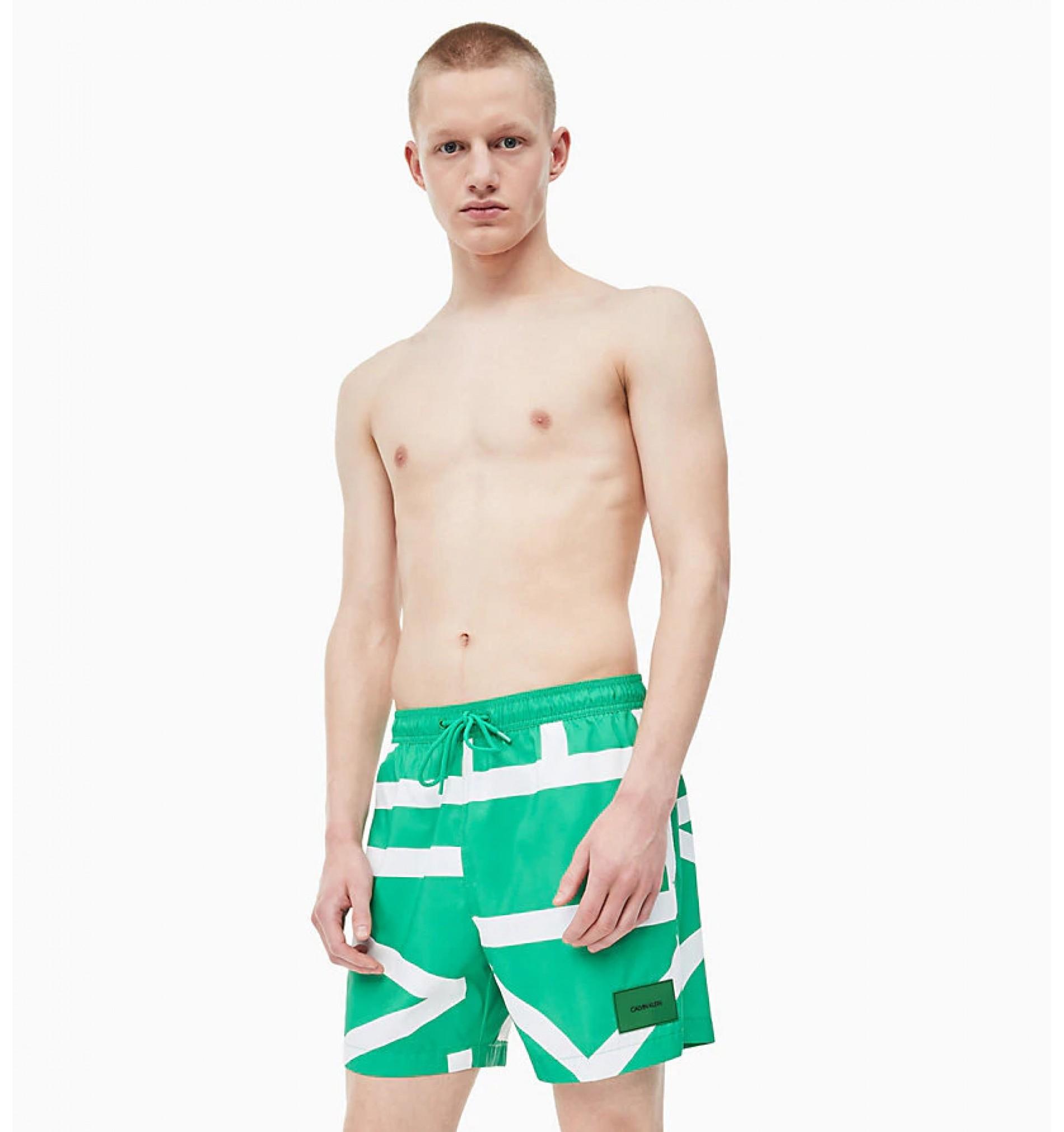 pánske plavky 'CORE ABSTRACT' zelené  326