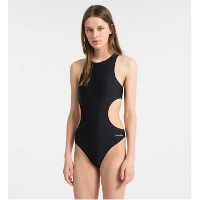 dámske plavky - JEDNODIELNE 'CK CORE NEO' čierne  001