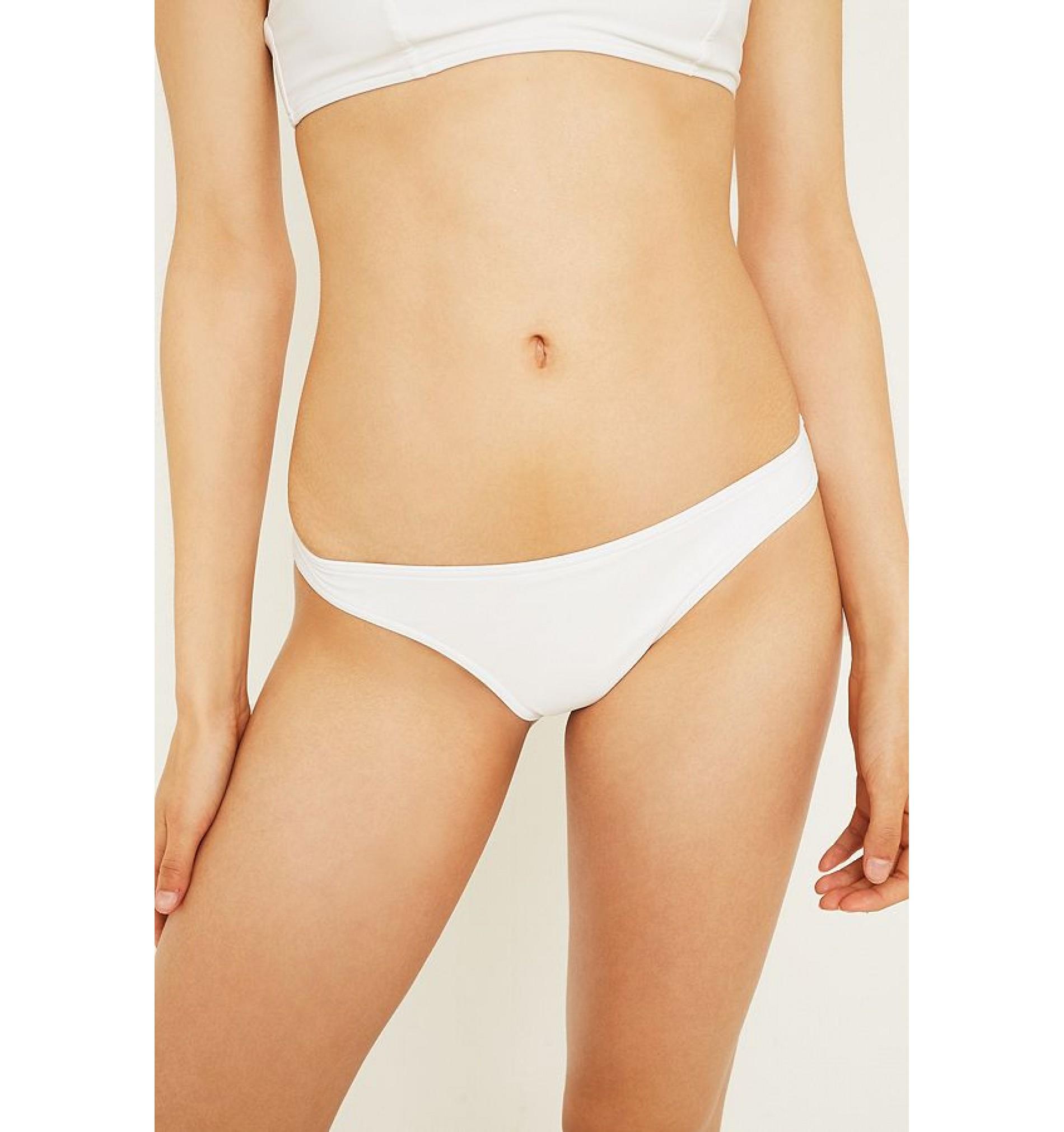 dámske plavky - BRAZILKY 'CORE SOLID' biele  100