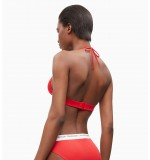 dámske plavky - PODPRSENKA 'CK LOGO' červená  668