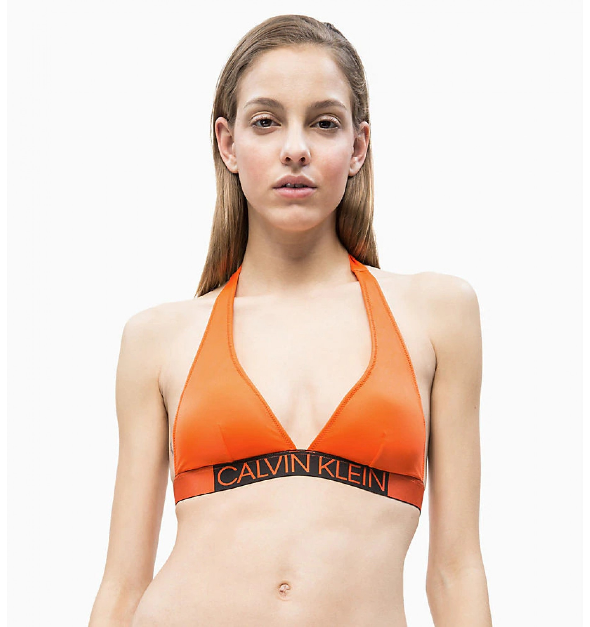 dámske plavky - PODPRSENKA PLUNGE 'CORE ICON' oranžová  659