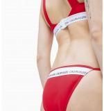 dámske plavky - BIKINI 'CK LOGO' červené  668