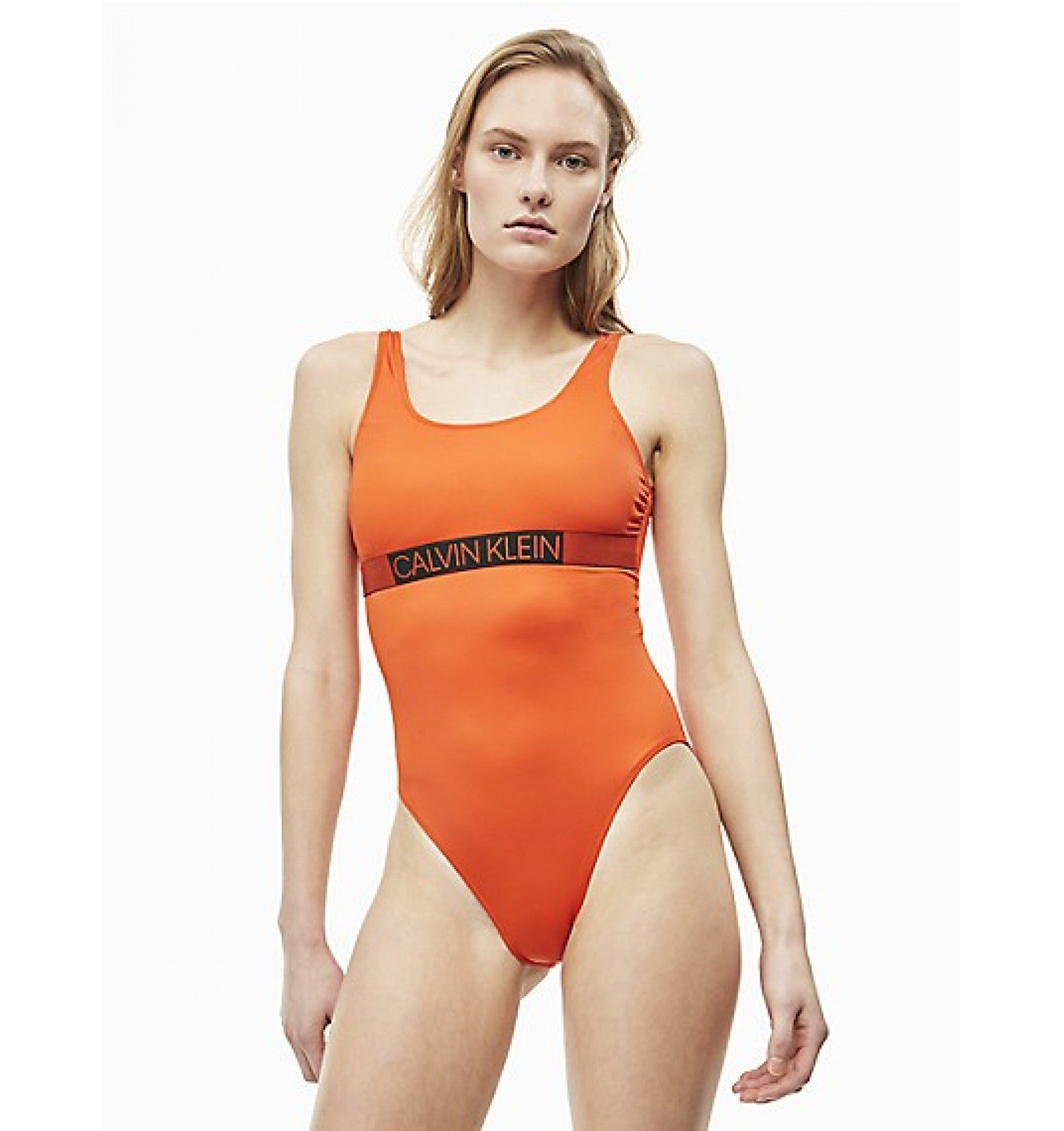 dámske plavky - JEDNODIELNE 'CORE ICON' oranžové  659