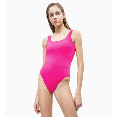 dámske plavky - JEDNODIELNE 'INTENSE POWER' neónovo ružové  507