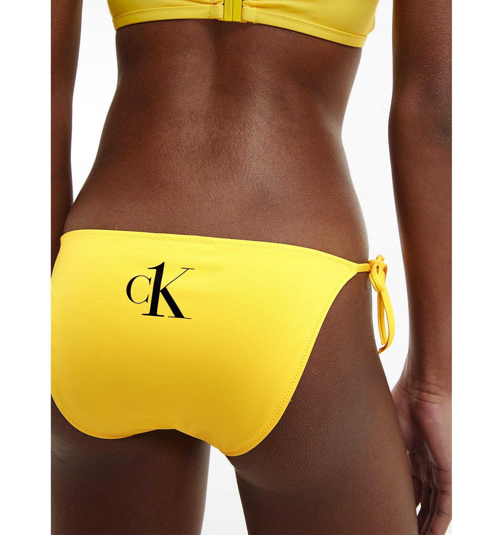 dámske plavky - BIKINI STRING 'HALTER NECK' žlté  ZGM