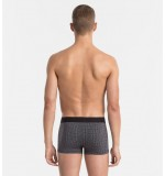 boxerky MICRO 'BLACK COTTON' šedé  5GC