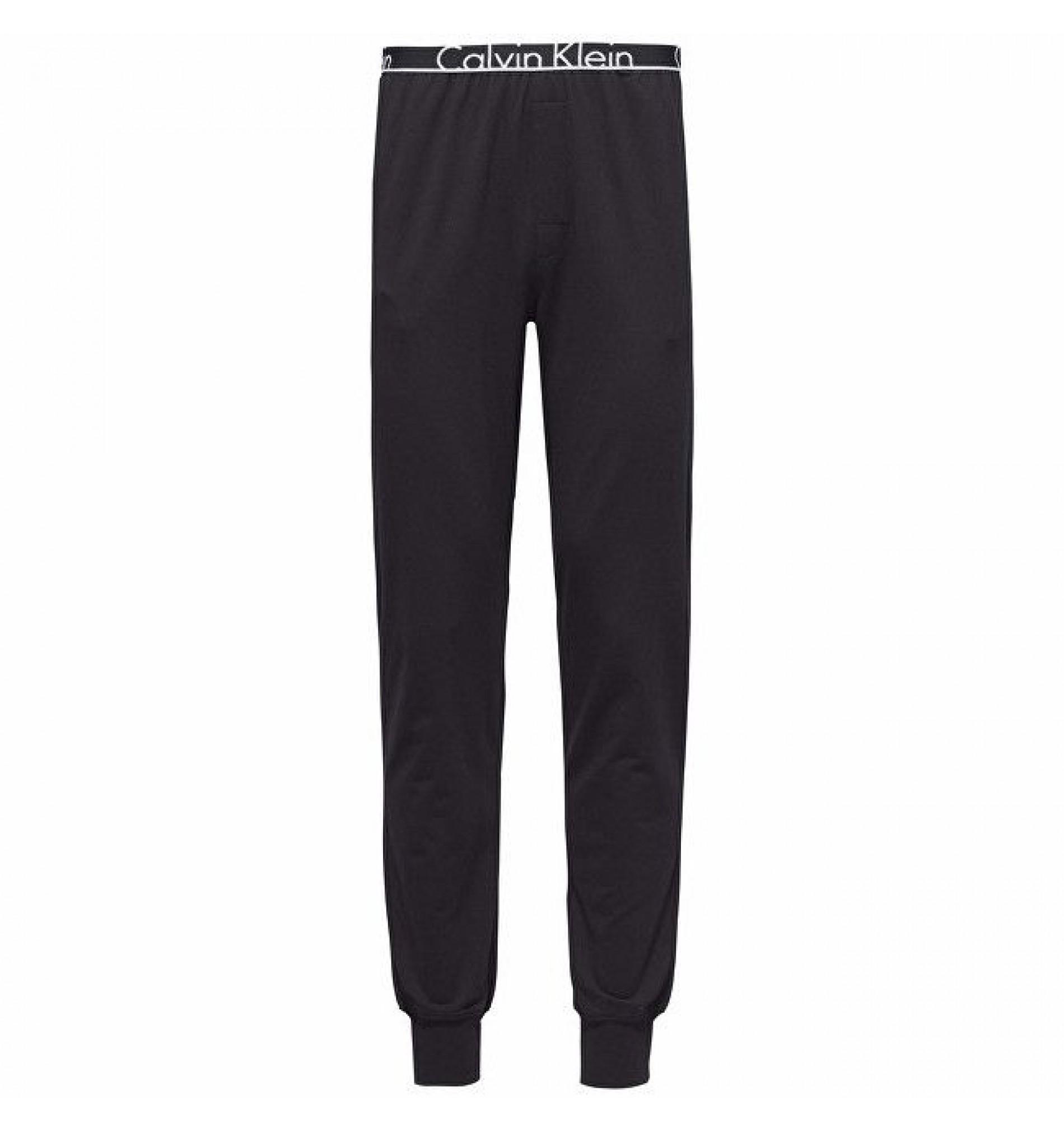 pánske nohavice - JOGGER 'ID COTTON' čierne  001