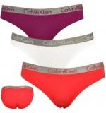 nohavičky BIKINI - 3PACK 'RADIANT COTTON' fialová,biela,jemne červená  HPY