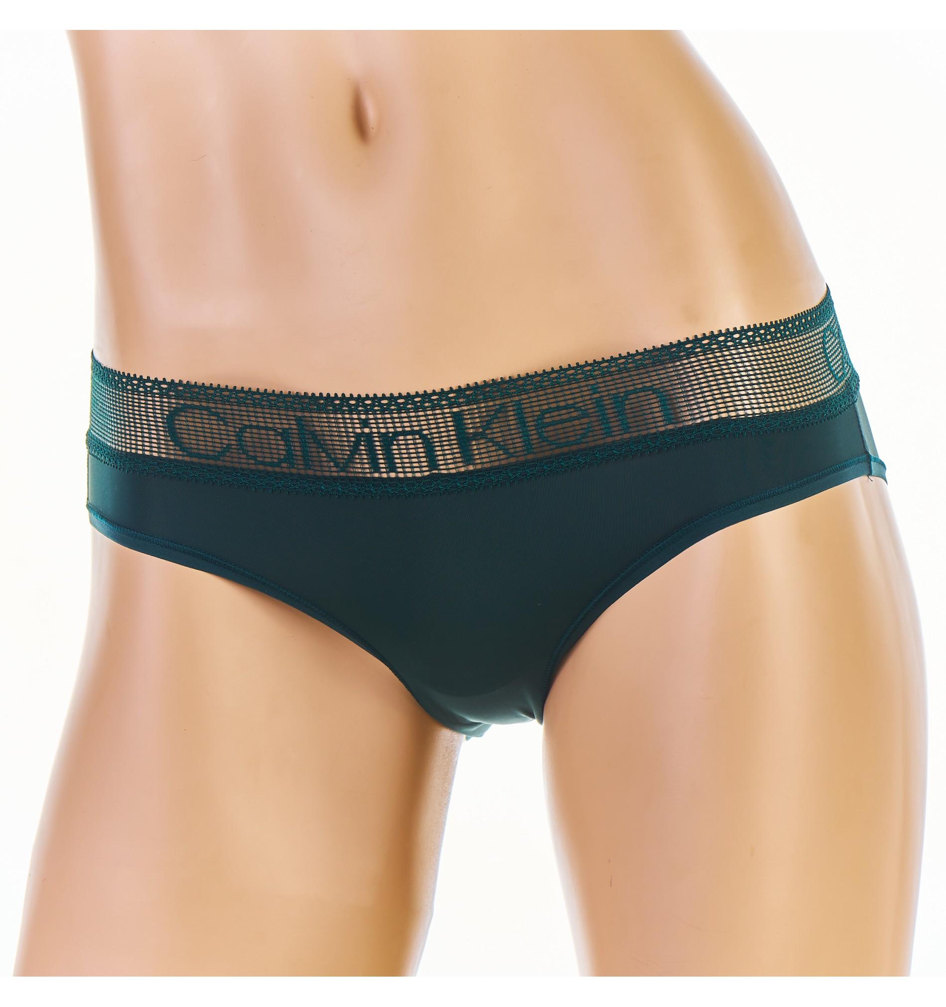 nohavičky - BIKINI 'LOGO LACE' zelené  CP2
