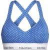 Calvin Klein podprsenka - BRALETTE LIFT 'MODERN COTTON' modrá s bodkami  PMH