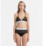 nohavičky vyvýšené - HIPSTER 'MODERN COTTON LACE' čierne  001