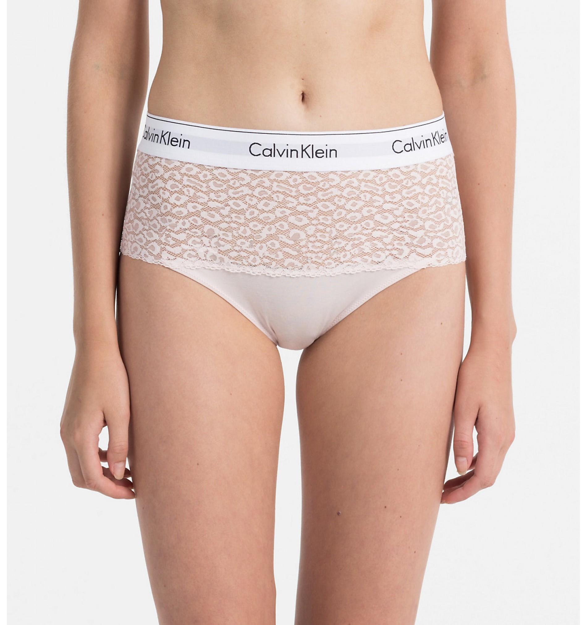 nohavičky vyvýšené - HIPSTER 'MODERN COTTON LACE' ružové  2NT