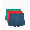 Calvin Klein boxerky predlžené - 3PACK 'COTTON STRETCH' zelená,červená,modrá  FMY