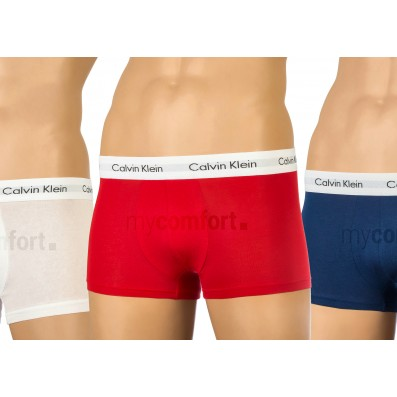 boxerky - 3PACK 'COTTON STRETCH' biela,modrá,červená  103