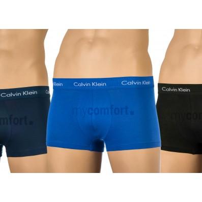 boxerky - 3PACK 'COTTON STRETCH' modrá,tmavomodrá,čierna  4KU