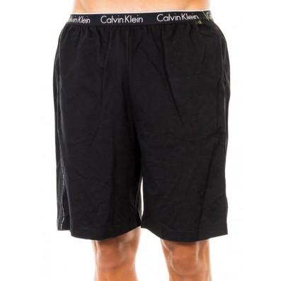 pánske nohavice - KRÁTKE 'CK SLEEP COTTON' čierne  001