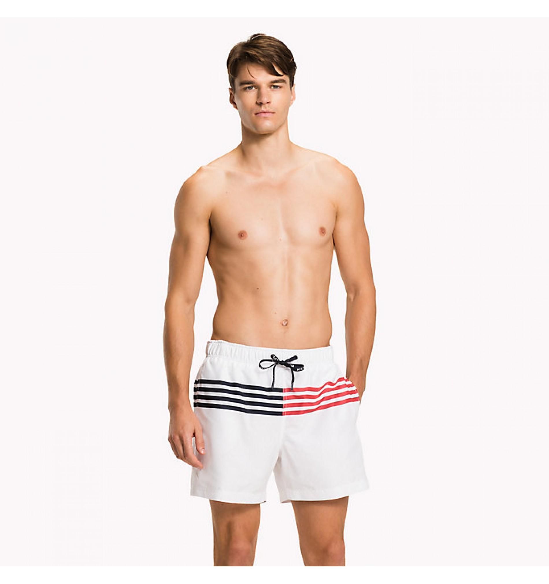 pánske plavky 'CORE FLAG STRIPE' biele  105