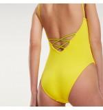 dámske plavky - JEDNODIELNE 'CORE SOLIDS' neónovo žlté  700