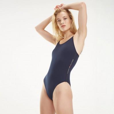 dámske plavky - JEDNODIELNE 'CORE SOLID LOGO' modré  416
