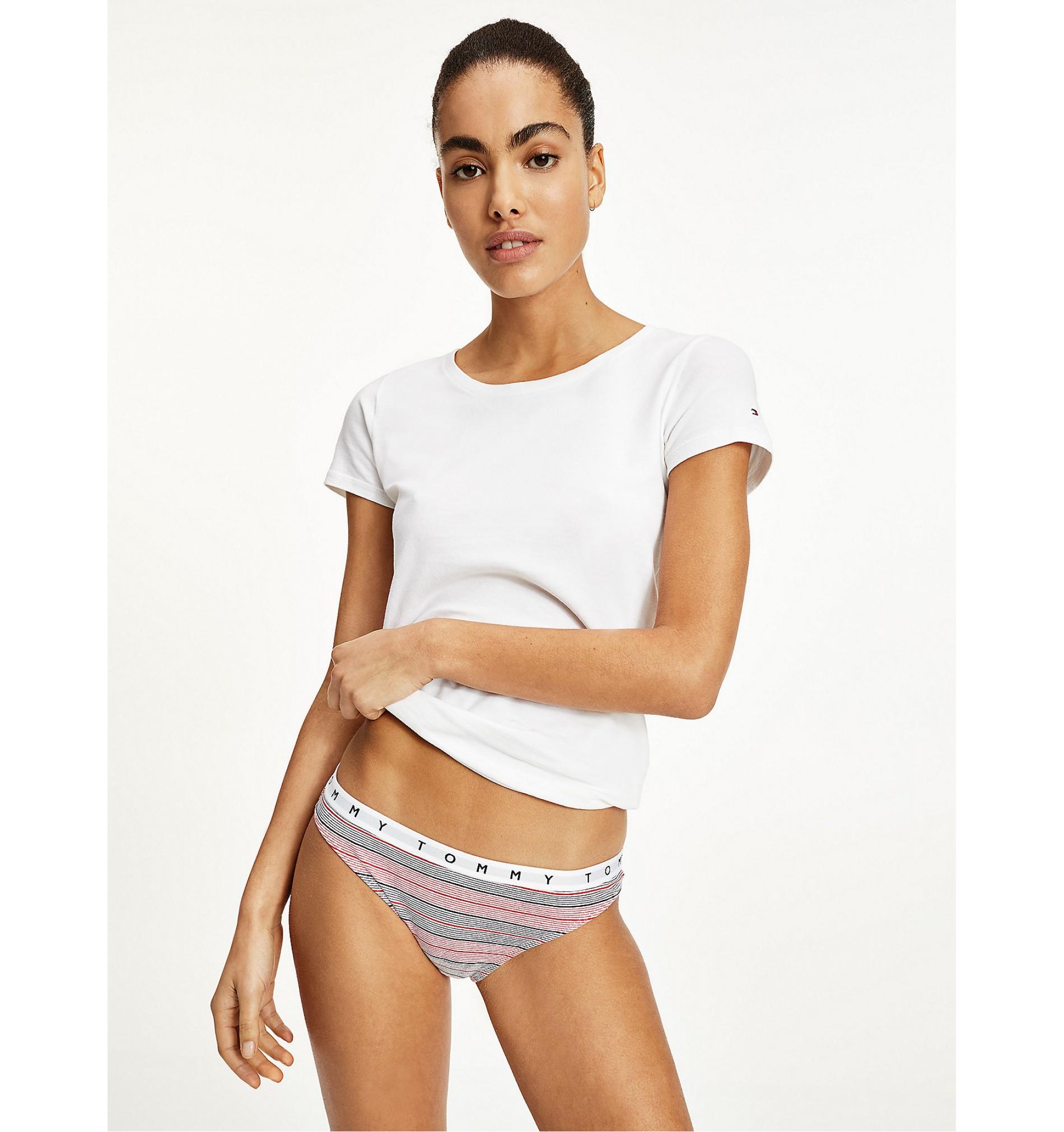 bikini - 3PACK 'ORGANIC COTTON' biela,čierna,pásikavá  0W2